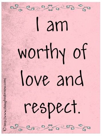Daily #affirmations... I couldn't agree more! Love and respect yourself!❤️