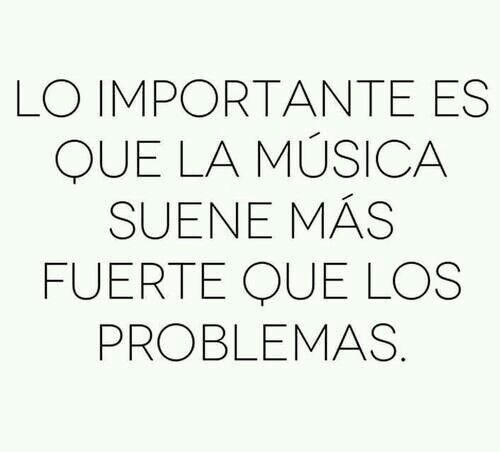 The important thing is that the music sounds louder than the problems