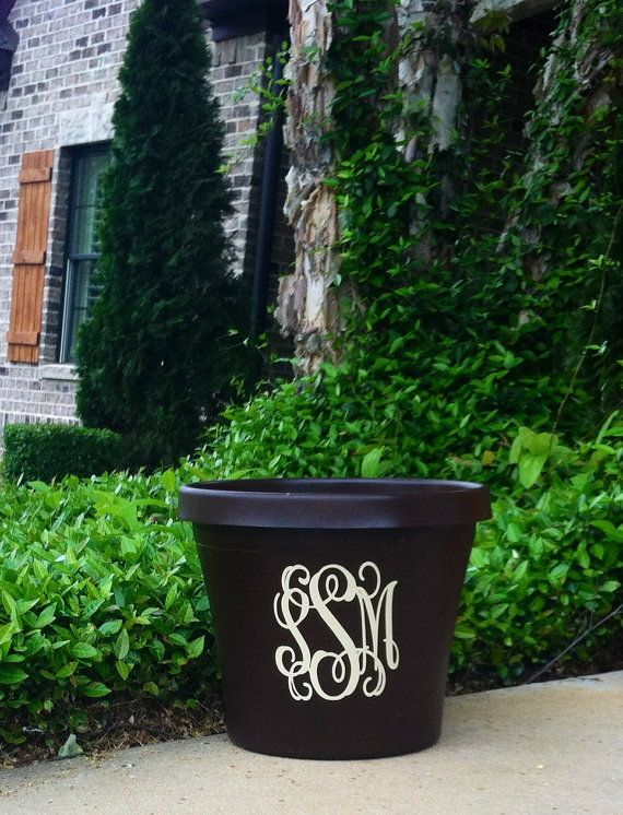 Personalized Flower Pot by MaryLucasGifts on Etsy, $30.00