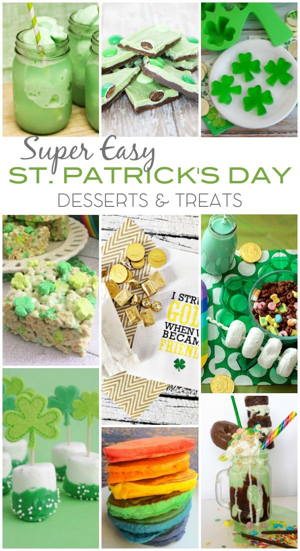 Super Easy St Patricks Day Desserts Treats | Made in a Day