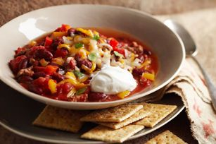 What makes this our best-ever chili?  It could be the hearty mix of ground beef, veggies and beans, the savoury toppings or the fact that it's a healthy living recipe.  One way or another, our Best-Ever Chili is sure to please.