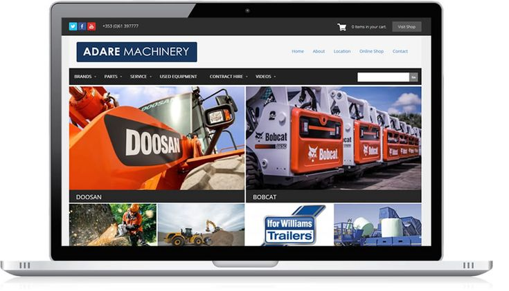 Adare Machinery is a stunning example of our e-commerce website design. Our client required a greater online presence to reach out to both new and existing customers. We at Irish Web HQ were happy to provide a user friendly ecommerce site to fulfill the brief for our Limerick based client. An appealing website design showcasing the New Holland Machinery range was produced. Visitors to the site can now browse the latest new and used machinery, download brochures, purchase item