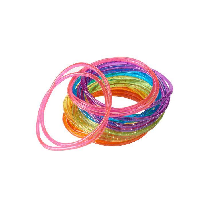 Girls 4-16 24-pk. Glitter Jelly Bracelets, multicolor