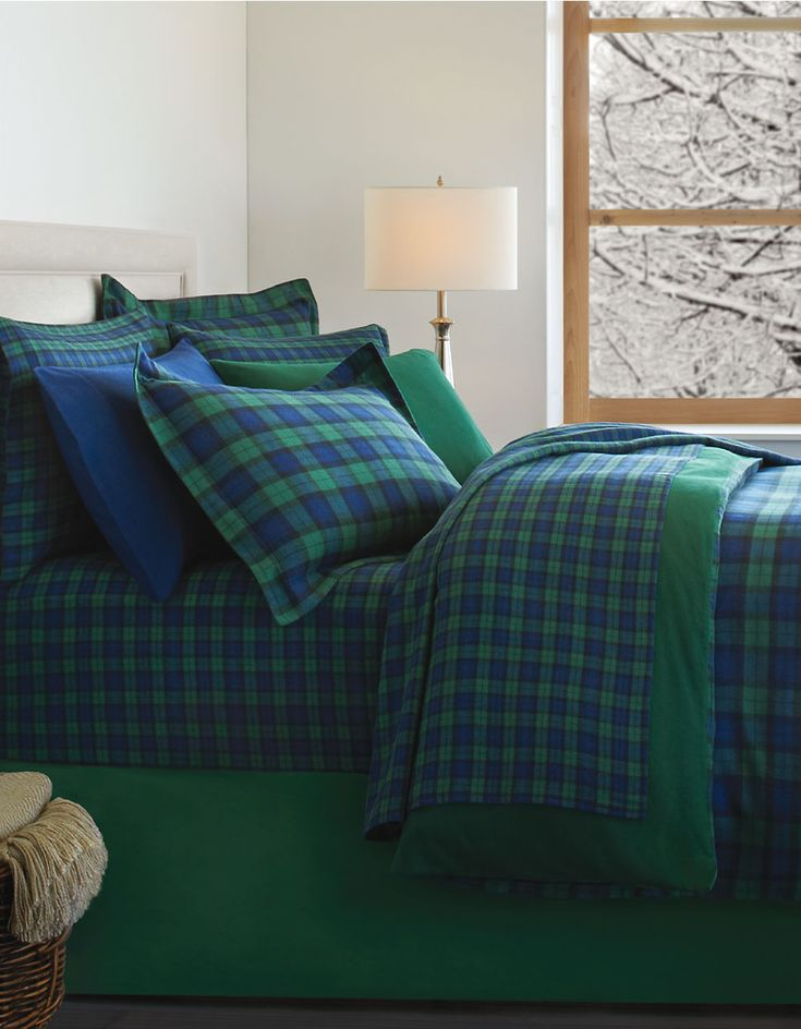 Distinctly Home Blackwatch Flannel Duvet Cover Made In