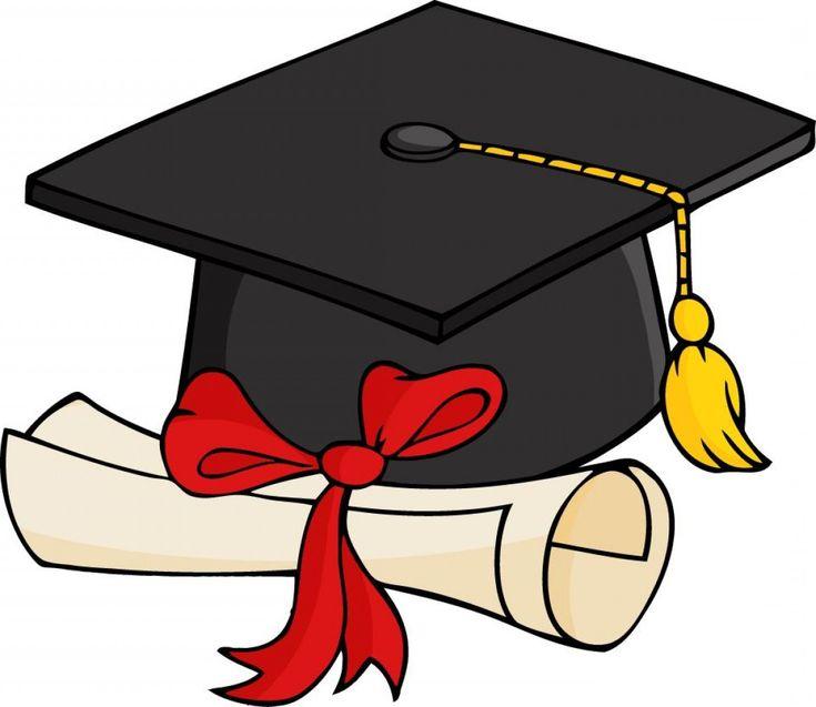 Free 2017 Graduation Clip Art Layout: Best Graduation Cap And Gown Clipart Layout