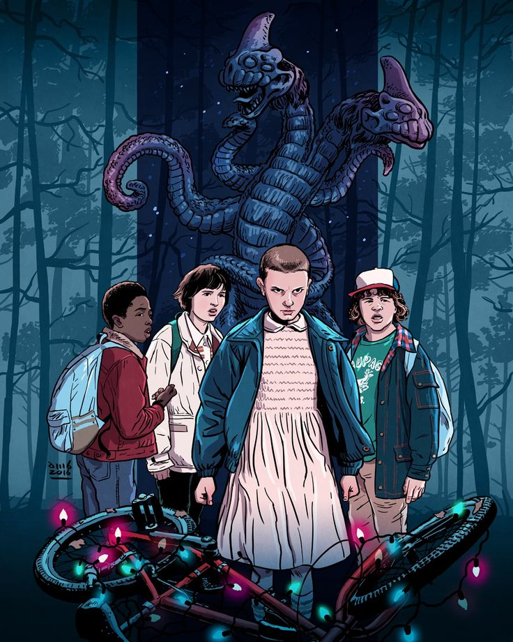 """A friend is someone that you'd do anything for."" - Stranger Things Art by David M. Buisán"