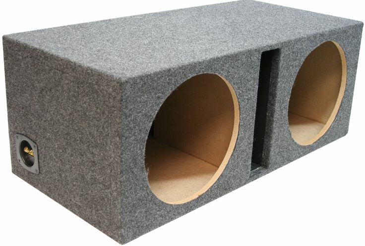 "12"" DUAL VENTED MDF SUBWOOFER BOX"