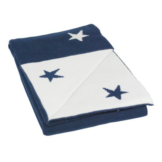 BLISS Sthlm - Filt Basic Star, Marinblå