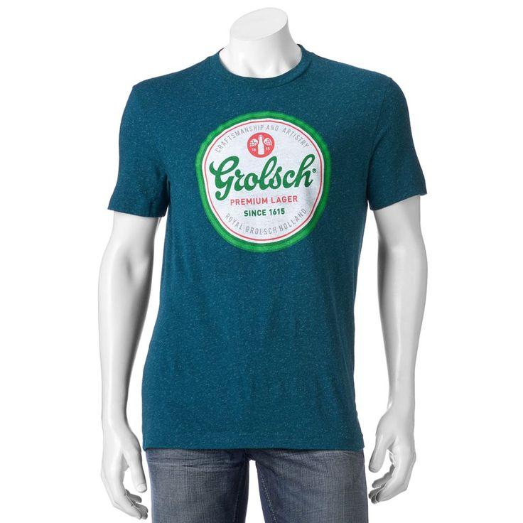 Men's Grolsch Classic Logo Tee, Size: Medium, Green Oth