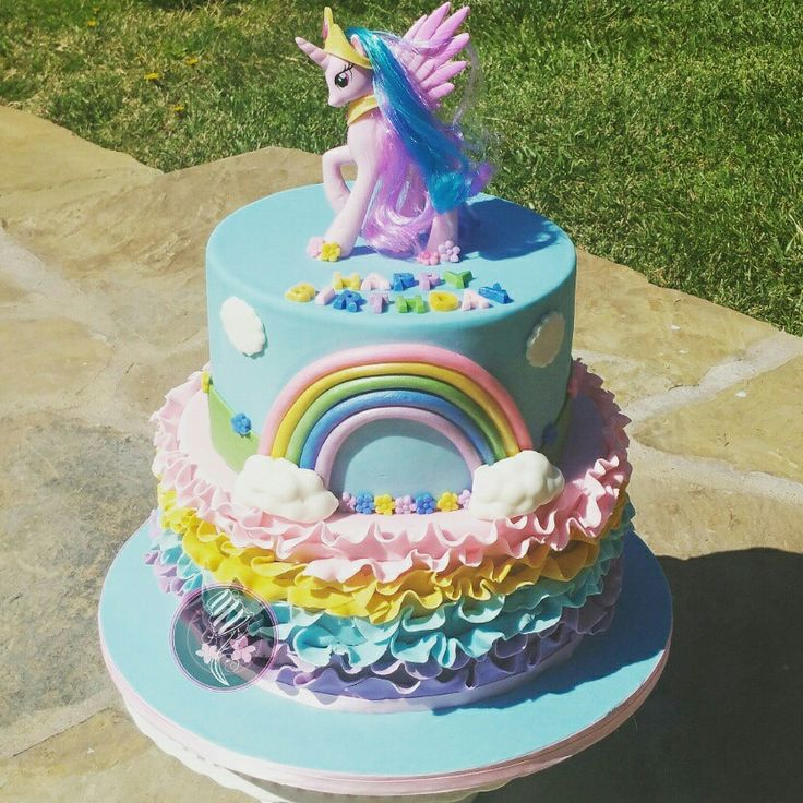 Princess Celestia My Little Pony Birthday Cake Little