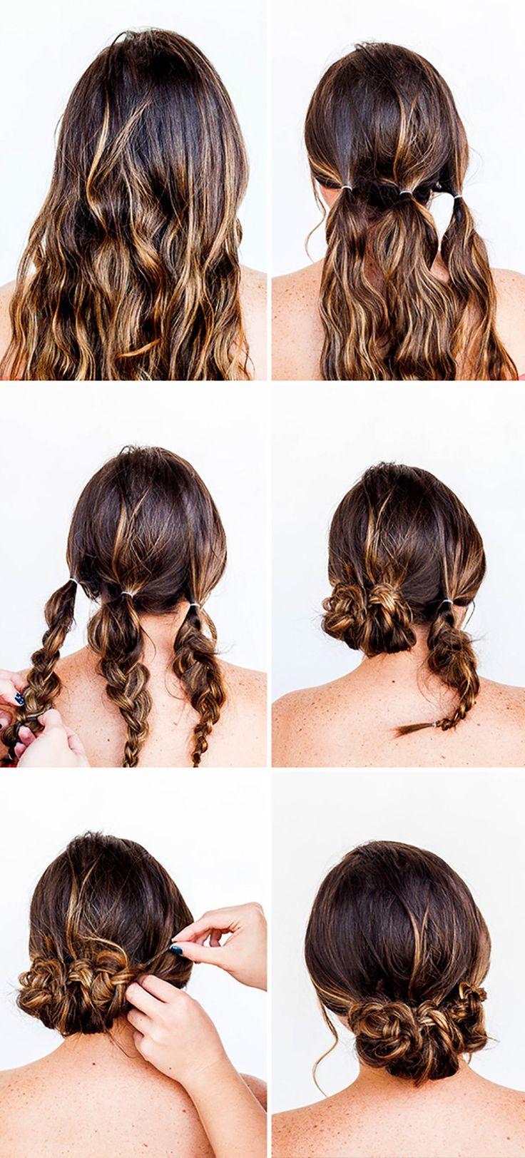 Penteados com tranças simples para se inspirar