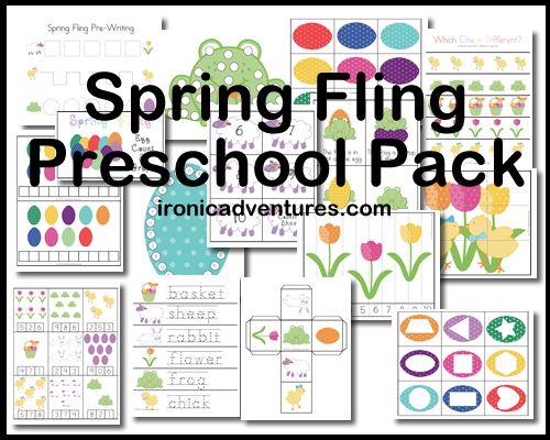 Free Spring Fling Printable Preschool Pack