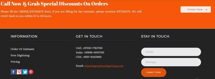 Custom #EmbroideryDigitizing #services Embroidery Digitizing - estimate form