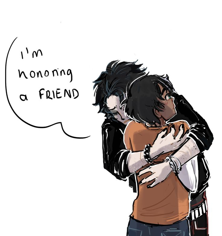Thalia hugging Percy at the end of Titans Curse, saying he is her friend and as handing him the position of hero of the prophecy, bc she was too fed up with all the bullshit from the gods, being a tree and loosing a brother and she wanted to be alive