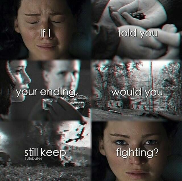If I Told You Your Ending, Would You Still Keep Fighting?