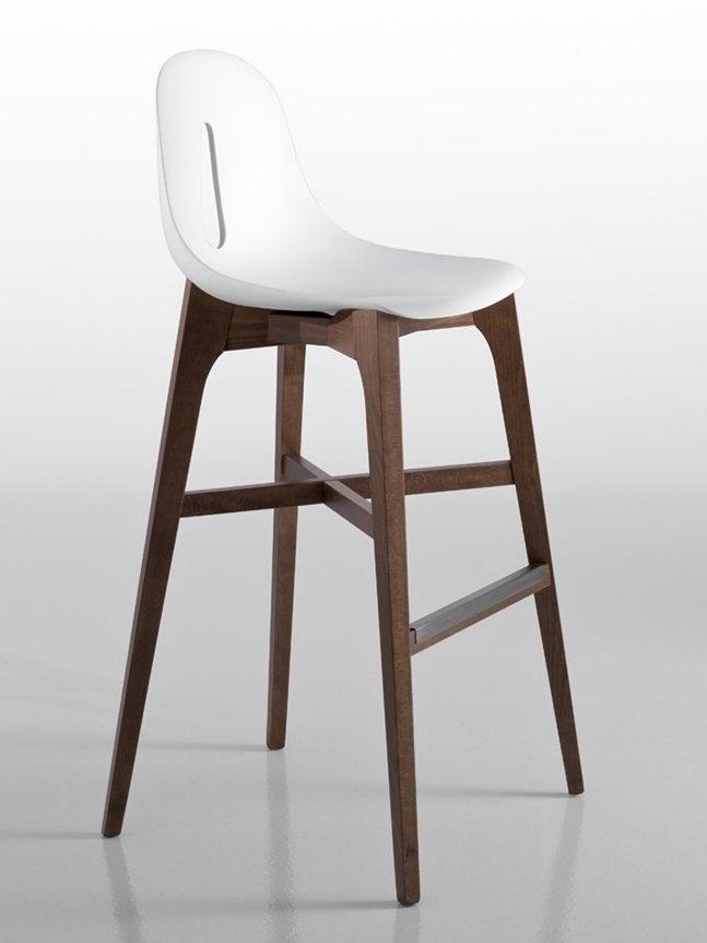 Beech #stool GOTHAM W-SG by CHAIRS & MORE | #design Dario Delpin