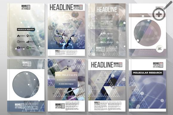 Set of templates for brochures by VectorShop on Creative Market