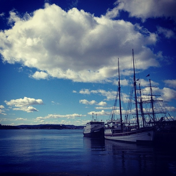 Instagram photo by @danila_kempes (Danila Kempes Puorto) | Clarion Collection Havnekontoret #boat #sea #clouds #norway