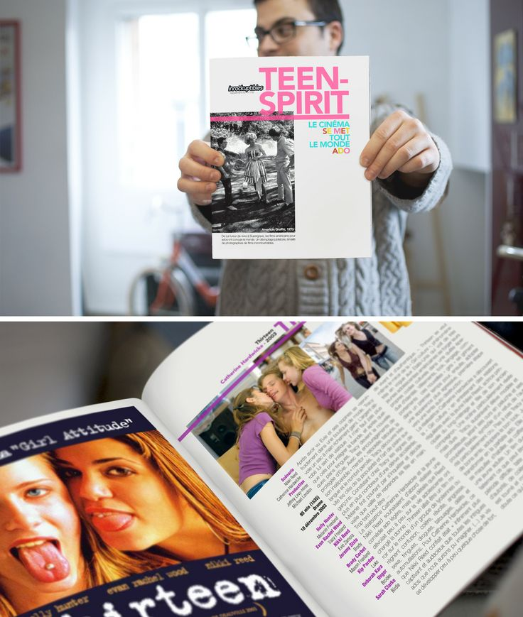 Élaboration d'une charte graphique pour un hors-série des Inrockuptibles sur le thème du teen-movie.