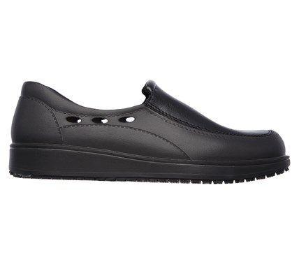 Skechers Men's Lorman Memory Foam Slip Resistant Slip On Work Shoes (Black) - 10.0 M