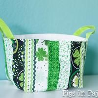 Sewing : St. Patrick's One Hour Basket
