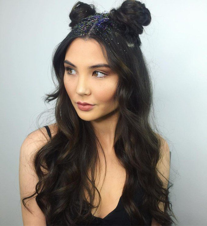 get your college party style on point with double buns + waves
