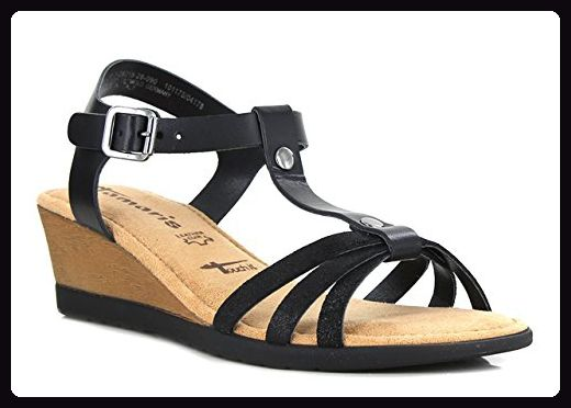 Tamaris, Damen Sandalen , schwarz - schwarz - Größe: 38 - Sandalen für frauen (*Partner-Link)
