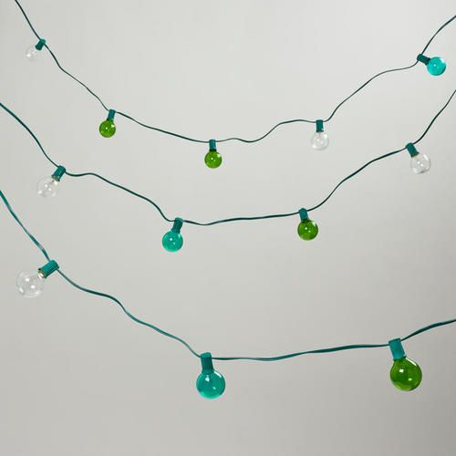 One of my favorite discoveries at WorldMarket.com: Seaside-Colored Bulb String Lights, Set of 10