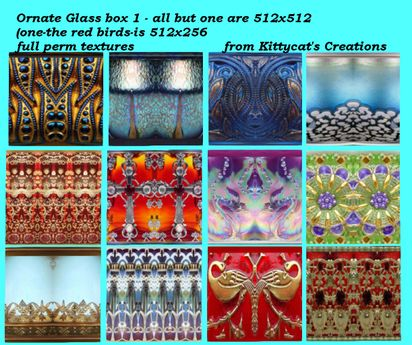 Ornate Glass textures 1 box