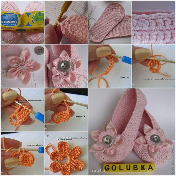 Wonderful DIY Crochet Ballet Slippers | WonderfulDIY.com