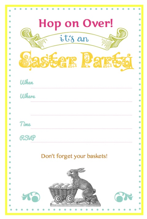 8 best free easter egg hunt invitations images on pinterest, Party invitations