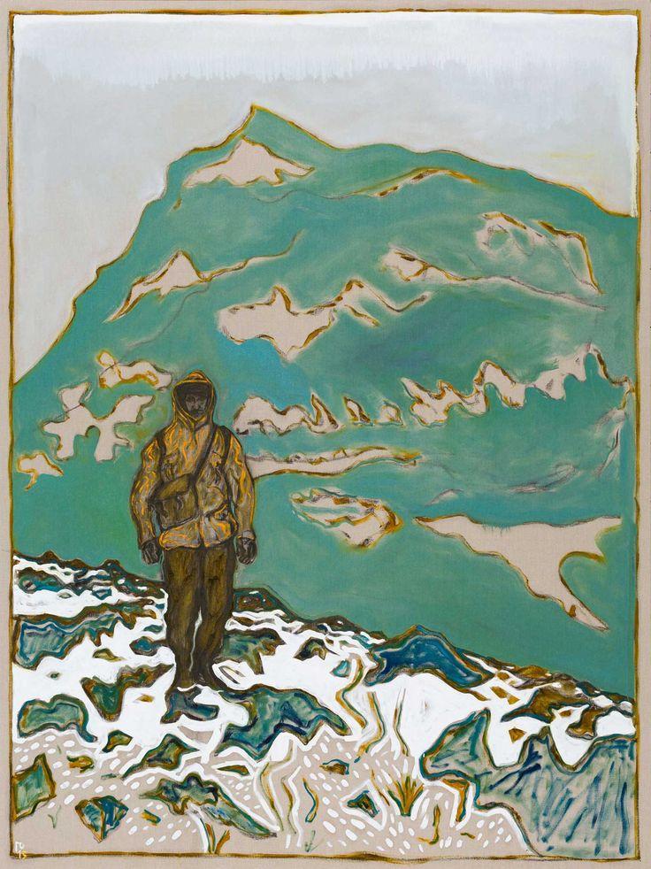 billy childish, carl freedman gallery, billy childish oil on linen, billy childish painting, walker, snowdon walker