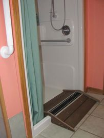 shower ramp idea. >>> See it. Believe it. Do it. Watch thousands of spinal cord injury videos at SPINALpedia.com