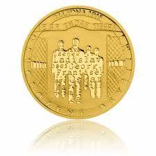 Zlatá mince 5 NZD Osvobození Osvětimi proof