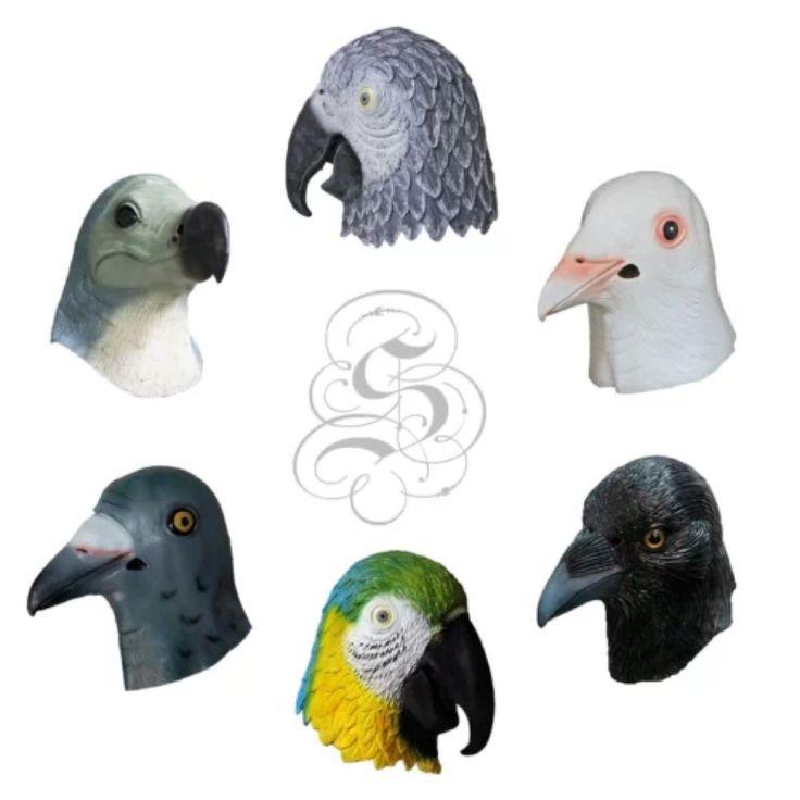 Latex Bird Masks Parrot Dodo Crow Toucan Pigeon latex animal masks