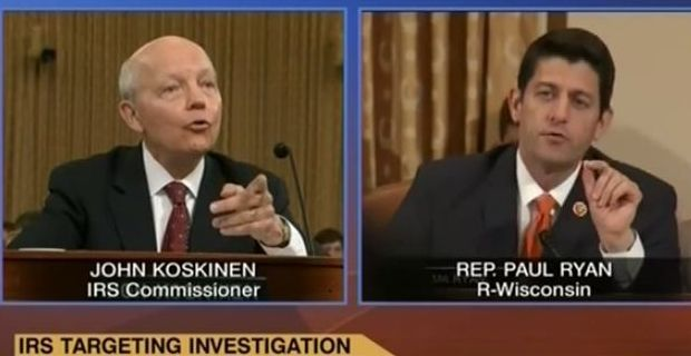 """Paul Ryan to IRS Commissioner: """"Nobody Believes You"""""""