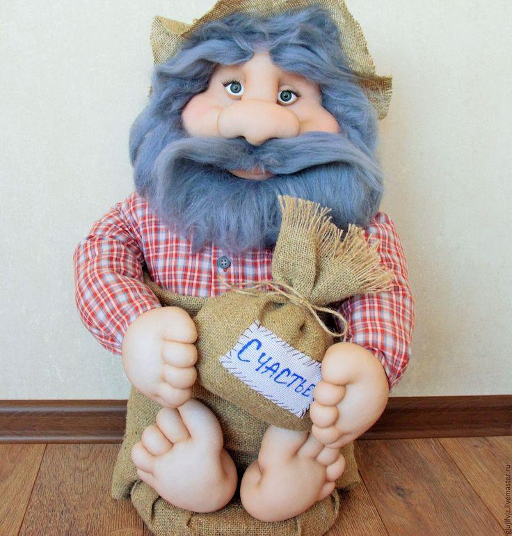 Купить Домовенок - кукла ручной работы, кукла в подарок, кукла интерьерная, домовой, Домовенок Кузя