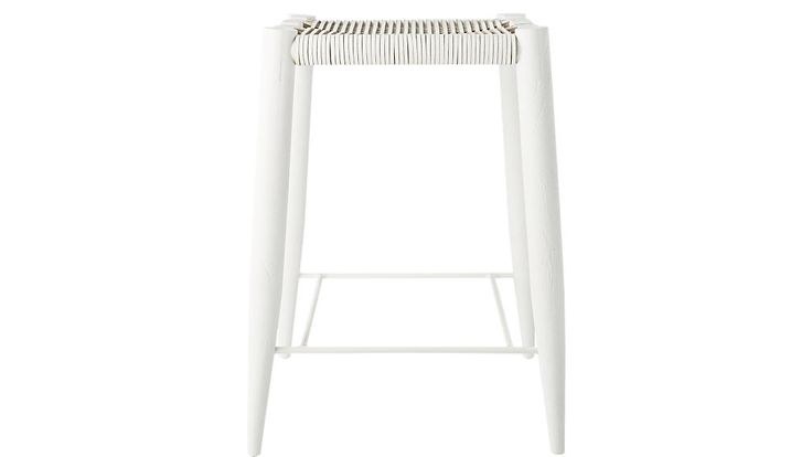 Nahla White Leather Bar Stool 30""