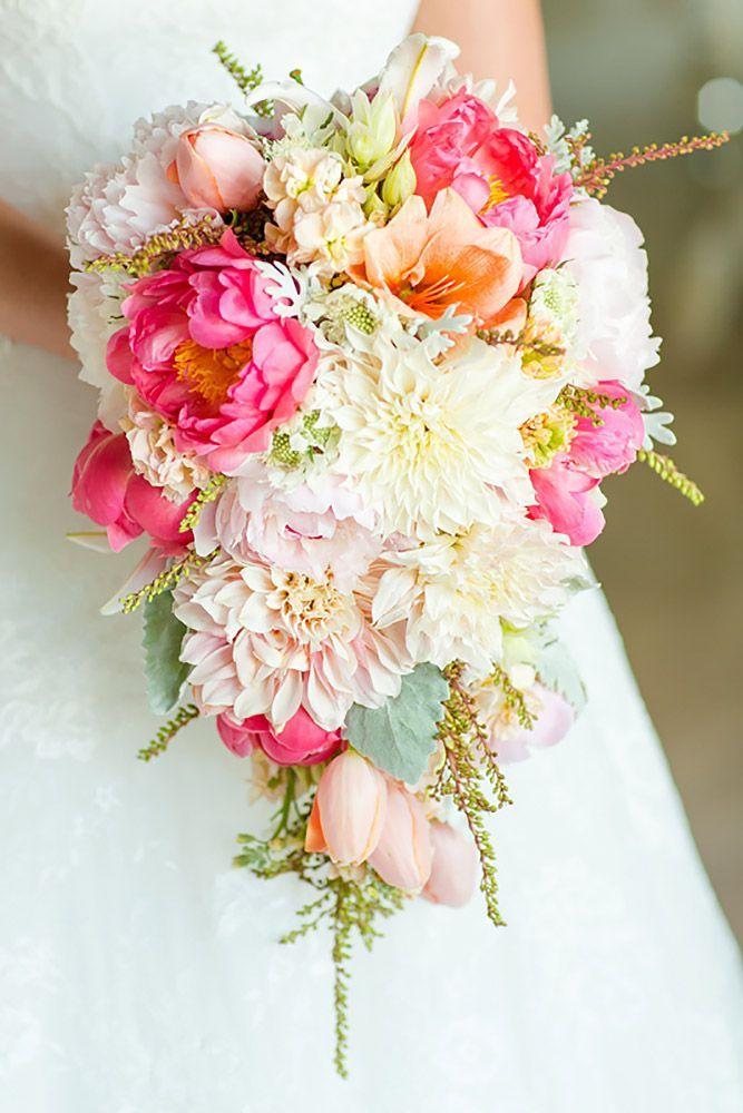 Gorgeous Cascading Wedding Bouquets See More Weddingforward
