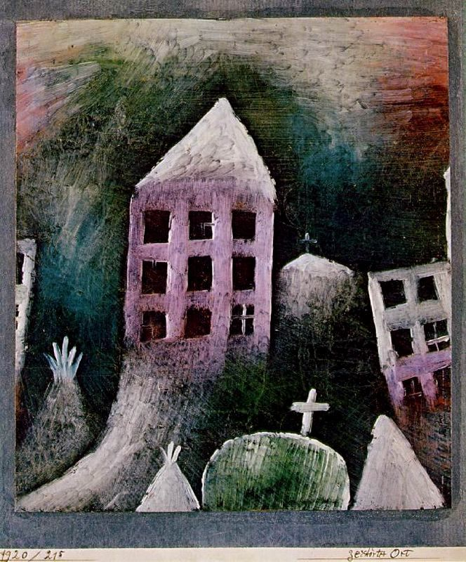 """Destroyed Place by Paul Klee, mentioned in """"I Scream."""""""