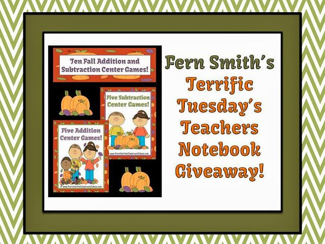 Terrific Tuesday's Teachers Notebook Giveaway! #Giveaway #Teacher www.FernSmithsClassroomIdeas.com