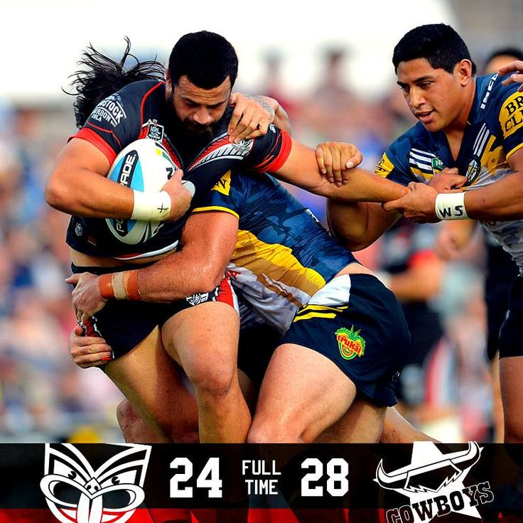 Fulltime. Heartbreak in Townsville as the Cowboys take it late in the match. #NRLCowboysWarriors.