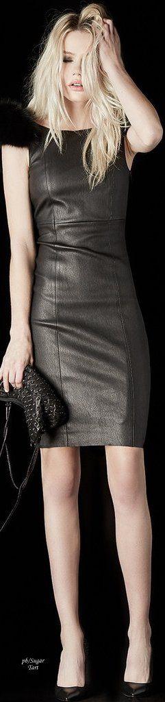 Thomas Wylde ~ Fall 2017 ※ leather minidress