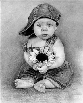 Who can resist an adorable pencil sketch of this sweet baby. Send us your photos and we'll capture those precious moments for you to remember forever. :)