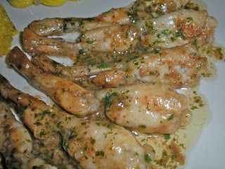 Chef JD's Cuisine & Travel Website Turnstile : Frog Legs Saute with Lemon Butter