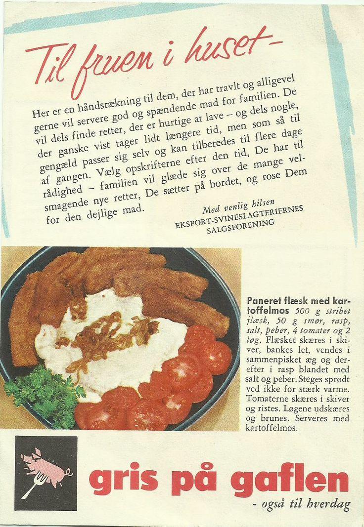 Paneret flæsk med kartoffelmos.