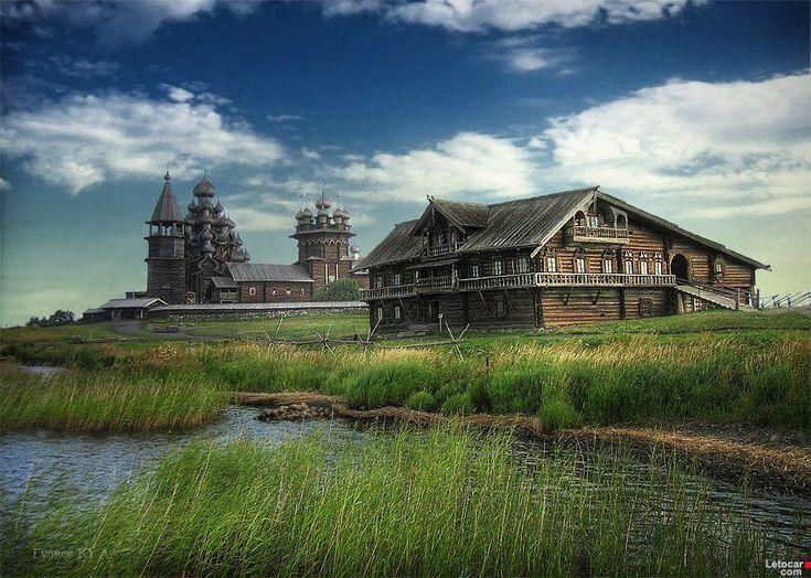 beautiful russia romantic wood buildings