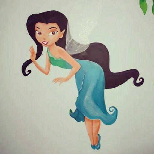 #muurschildering  #Tinkerbell #niekiekidsdesign