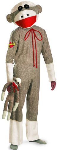 Sock monkey costume - OMG why didn't I see this before I got this year's costume!!