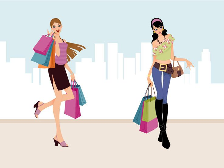 Download Fashion Shopping Girls Vector Art Free
